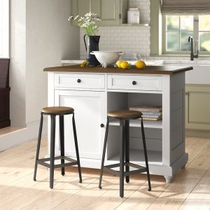 Kitchen Set Kayu Minimalis Warna Putih Terbaru
