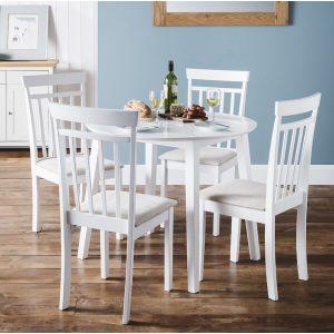 Meja Cafe Kayu Warna Putih Agraya